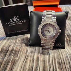 Adee Kaye Beverly Hills Crystal crusted watch